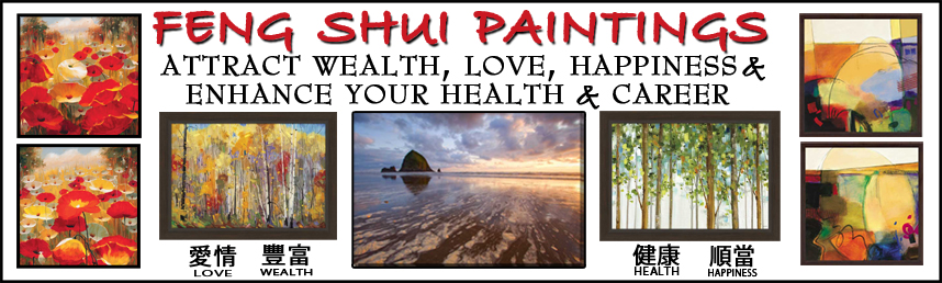 Feng Shui Paintings Framed Canvas Art