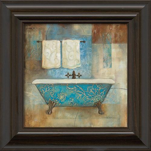 Aqua Spa I Framed Canvas Art