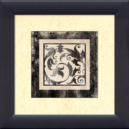Antique Scroll Art: Framed Canvas Art