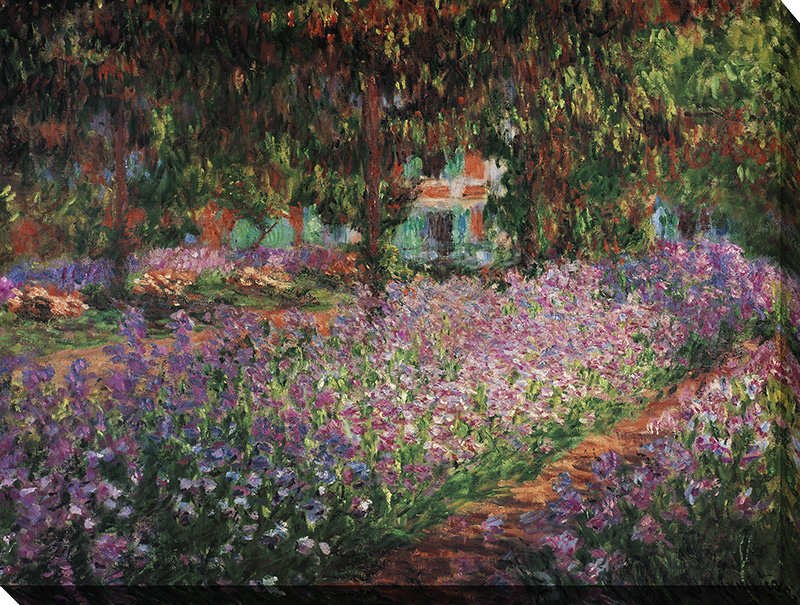 Le jardin de l 39 artiste a giverny framed canvas art for Jardin giverny