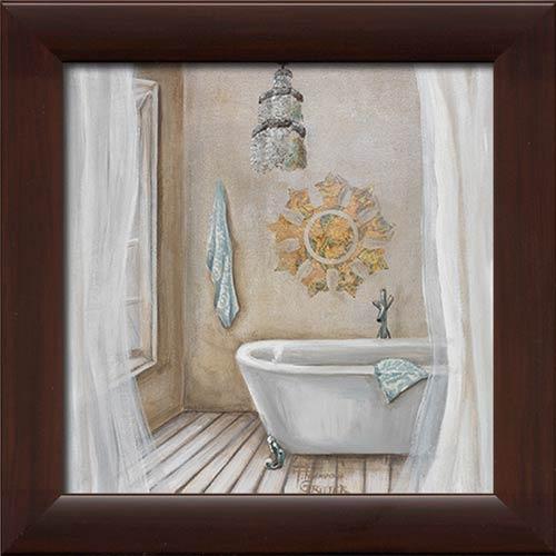 Crystal Bath II Framed Canvas Art