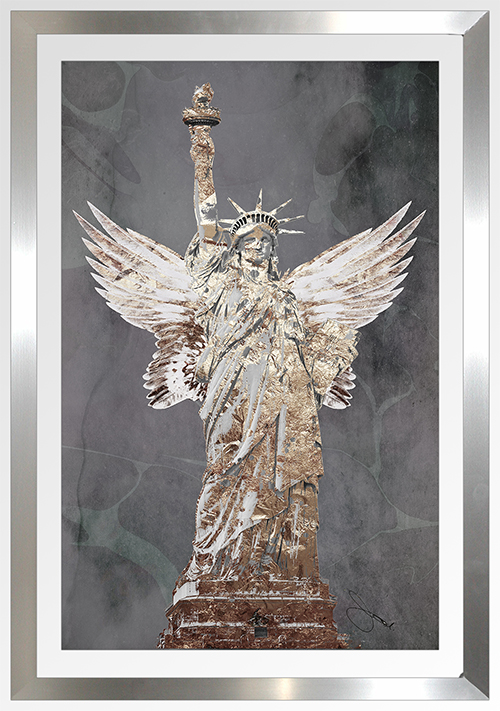 "BY Jodi ""Wings Of Paris Black"" Framed Plexiglass Wall Art"