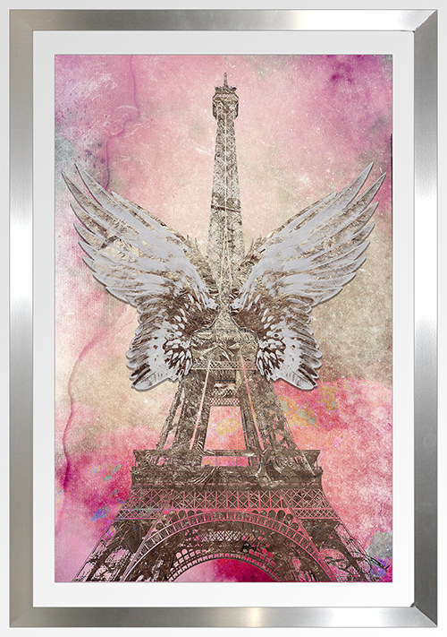 "BY Jodi ""Wings Of Paris"" Framed Plexiglass Wall Art"