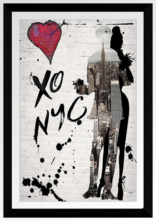 "BY Jodi ""Xo Nyc"" Framed Plexiglass Wall Art"