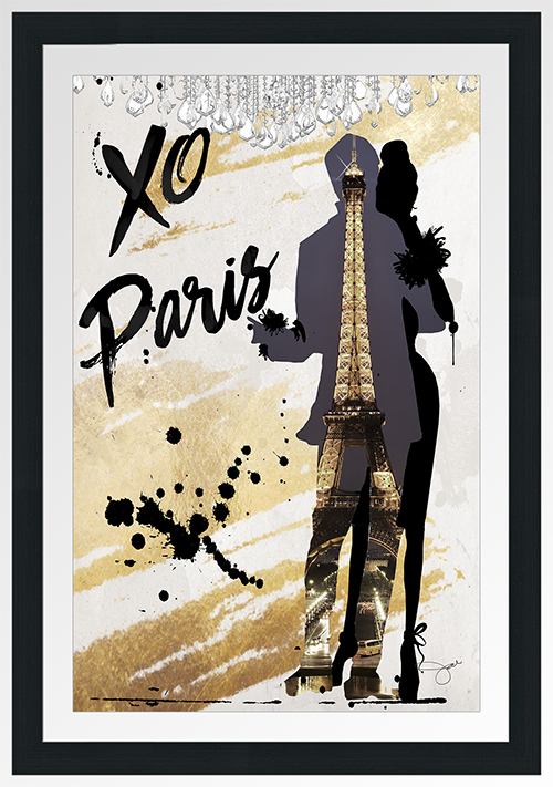 "BY Jodi ""Xo Paris"" Framed Plexiglass Wall Art"