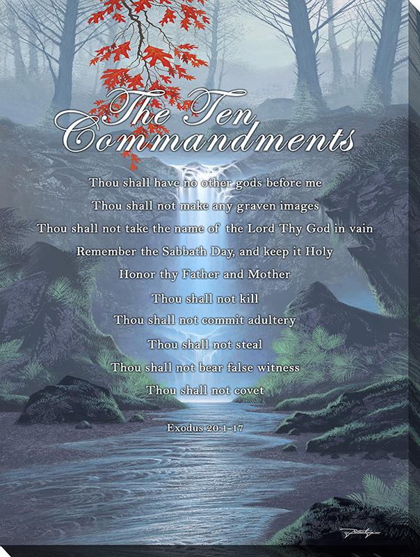 The Ten Commandments Framed Canvas Art