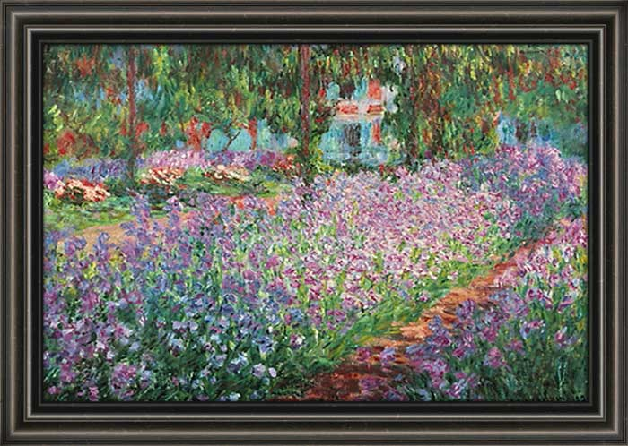 Le jardin de artiste framed canvas art for Artistes de jardin