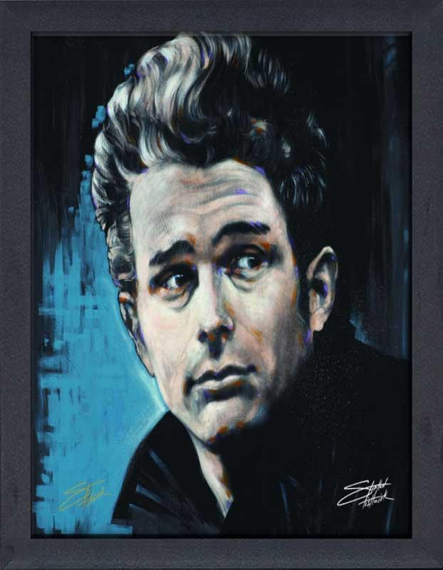 James Dean Framed Canvas Art