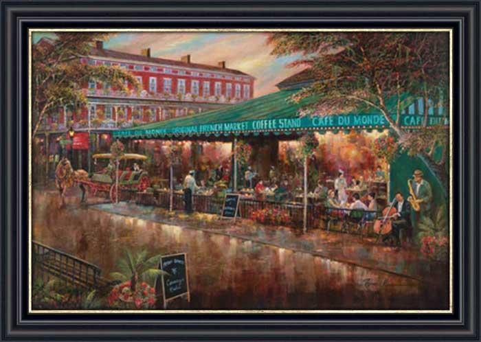 Cafe du monde framed canvas art for Art du monde