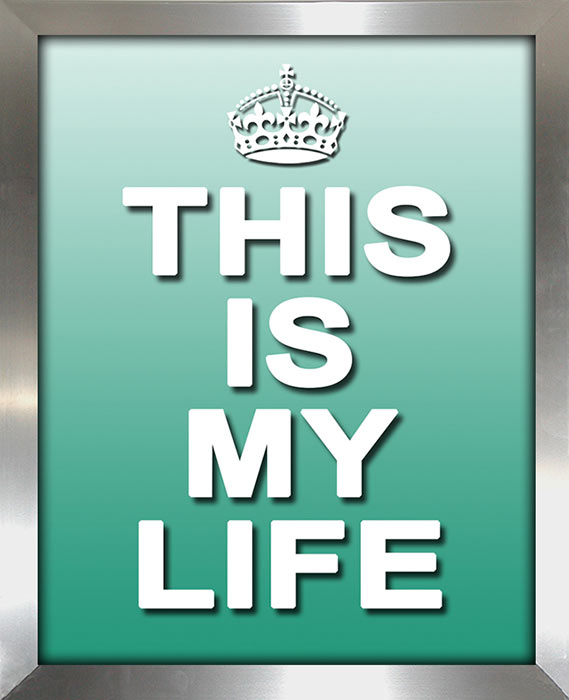 This Is My Life Framed Canvas Art