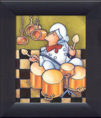 Frameless Modern Cartoon Chefs Canvas Prints Restaurant: Framed Canvas Art