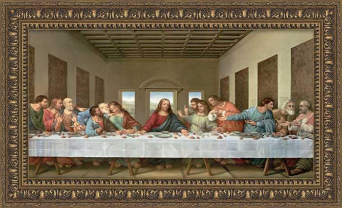 the last supper framed canvas art. Black Bedroom Furniture Sets. Home Design Ideas