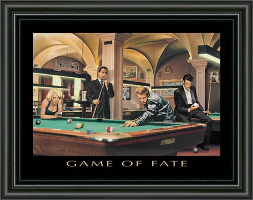 Game Of Fate Framed Canvas Art