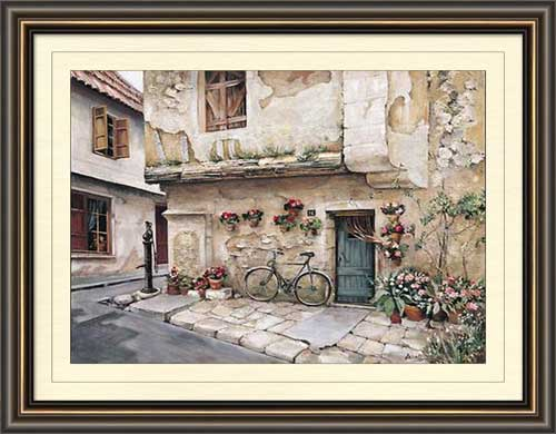 Passageway In Provence Framed Canvas Art