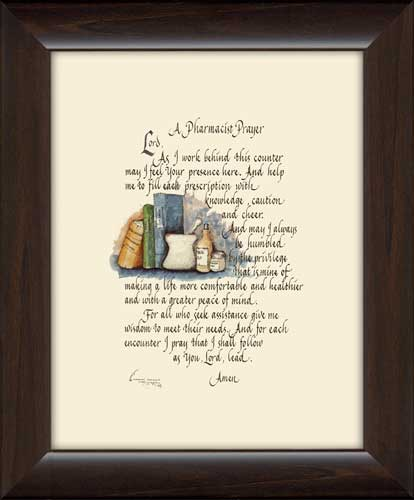 A Pharmacist Prayer Framed Canvas Art