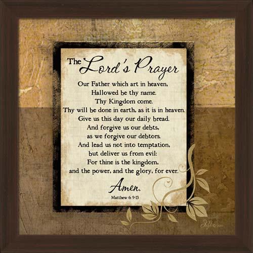 The Lord S Prayer Framed Canvas Art