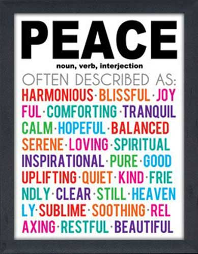 Peace Meaning Color Framed Canvas Art