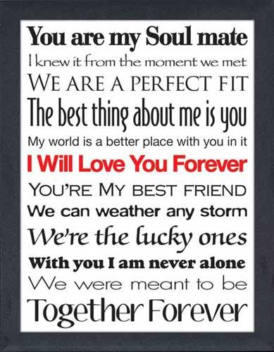 I Will Love You Forever - Framed Canvas Art
