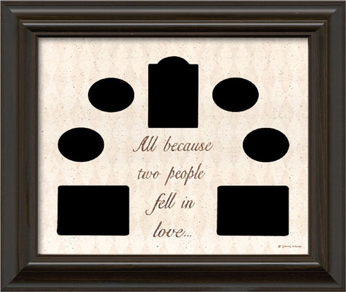 All because two people fell in love - Framed Canvas Art