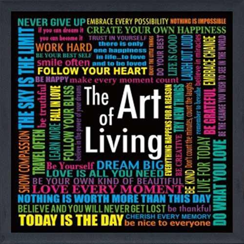 The Art Of Living Framed Canvas Art