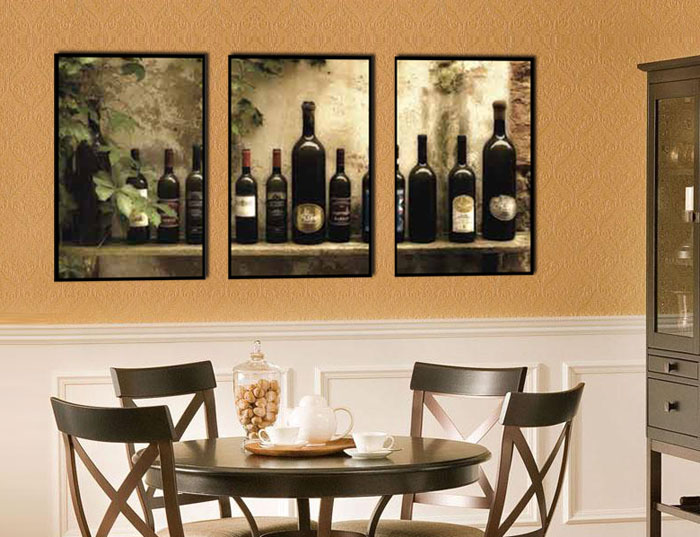 Dining room framed canvas art for Canvas painting for dining room