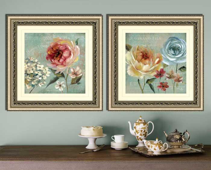 dining room framed canvas art