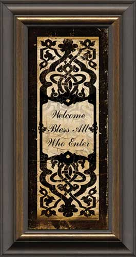 Welcome Panel Black Scroll