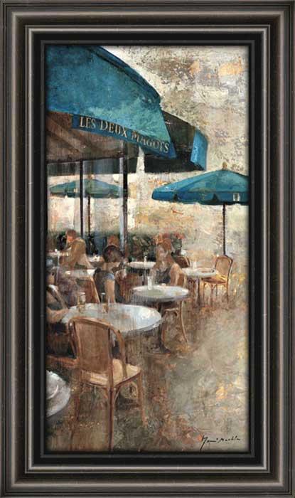 Terraza Cafe Les Deux Magots Framed Canvas Art