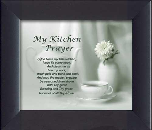 My Kitchen Prayer Framed Canvas Art