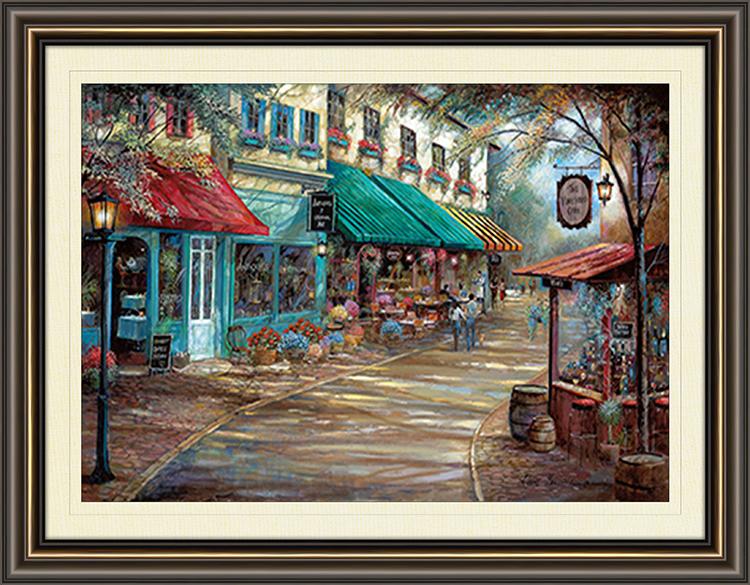 Romantic Interlude Framed Canvas Art