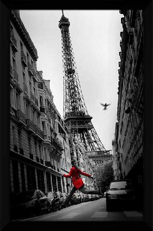 Eiffel Tower Red Coat