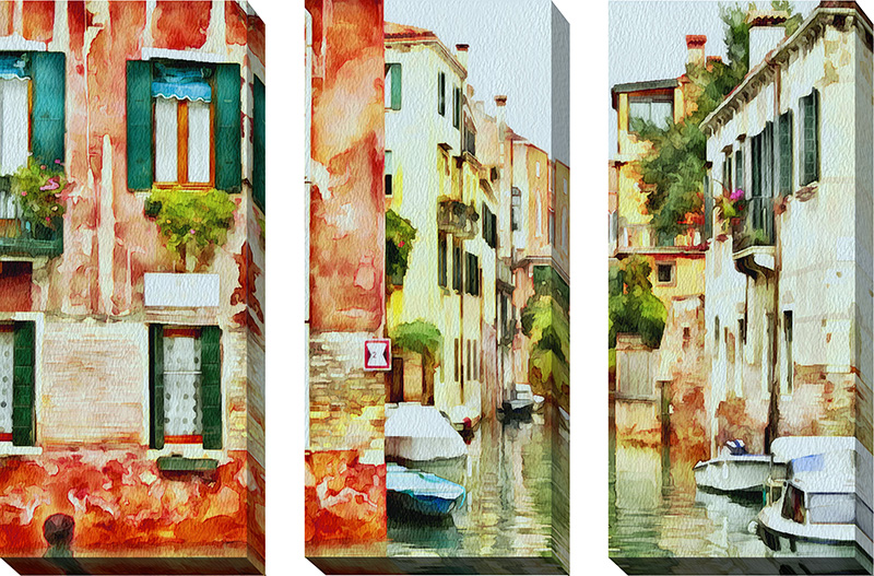 Venice Canals Watercolor VII