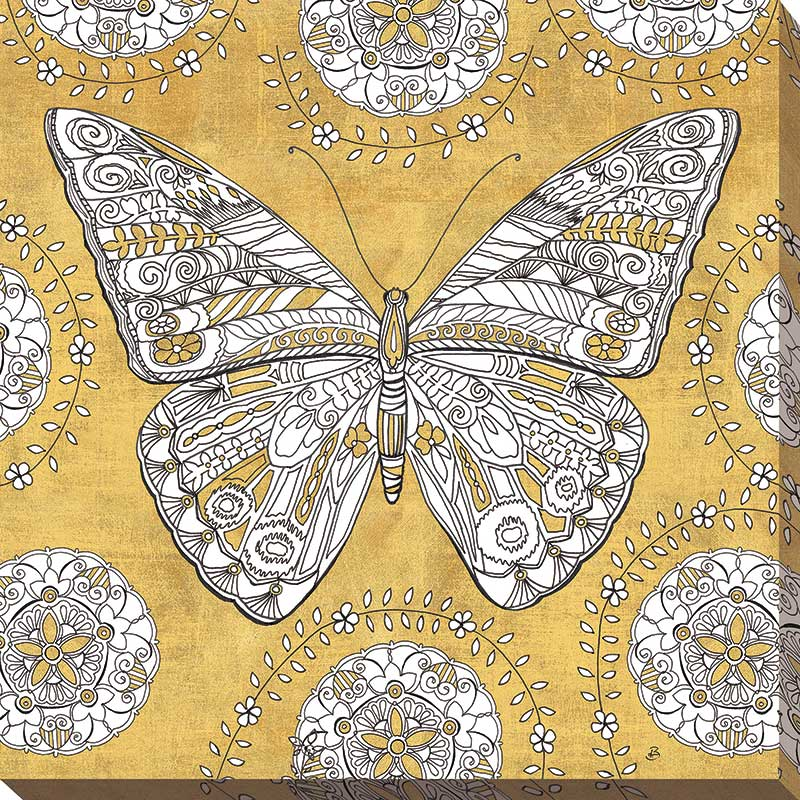 Color my World Butterfly I Gold